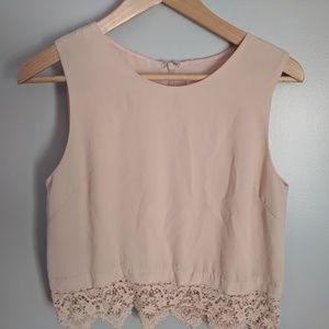 Lush Blush Laced Tank Top Blouse